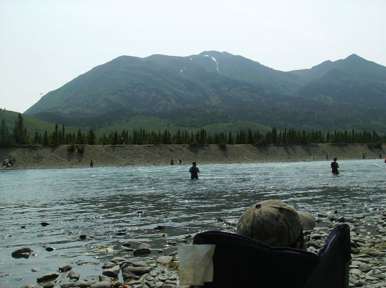 Camping on the kenai sterling highway edition alaskan for Cooper landing fishing