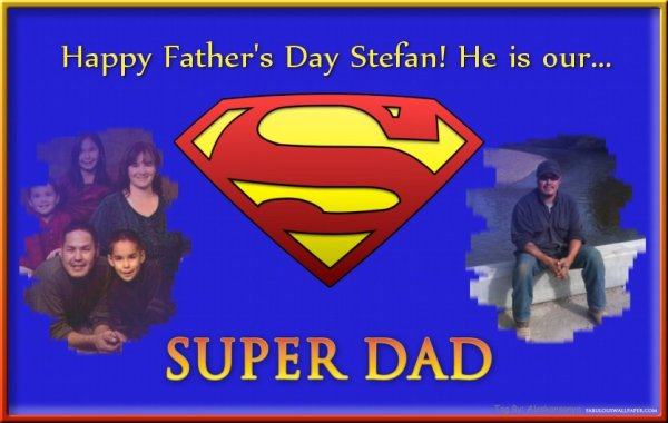 Left: My family in 2008 Right: My kids daddy, Stefan, the super dad!