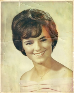 Judy, my mom, in her high school graduation photo.