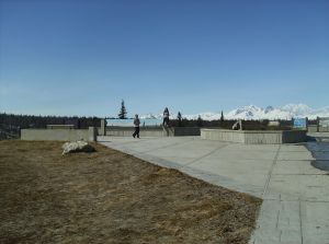 Two of my kids are at the Denali Viewpoint enjoying a rare clear day!