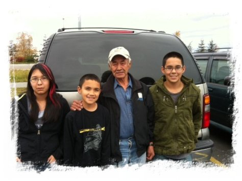 This is my father-in-law, Jesse, and my 3 kids Katerina, Jakob, and Billy.